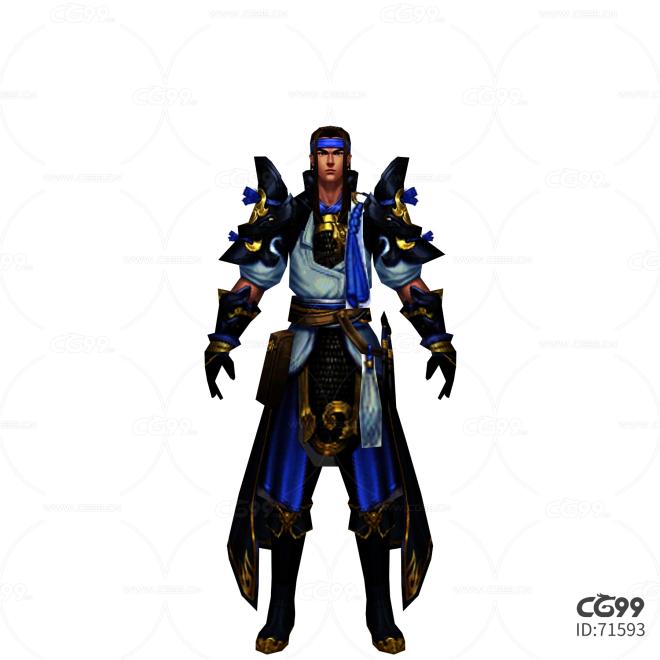 游戏模型 手游角色模型  蒙古大将模型  战士系列模型