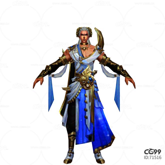 游戏模型 手游角色模型  战士系列模型 敦煌