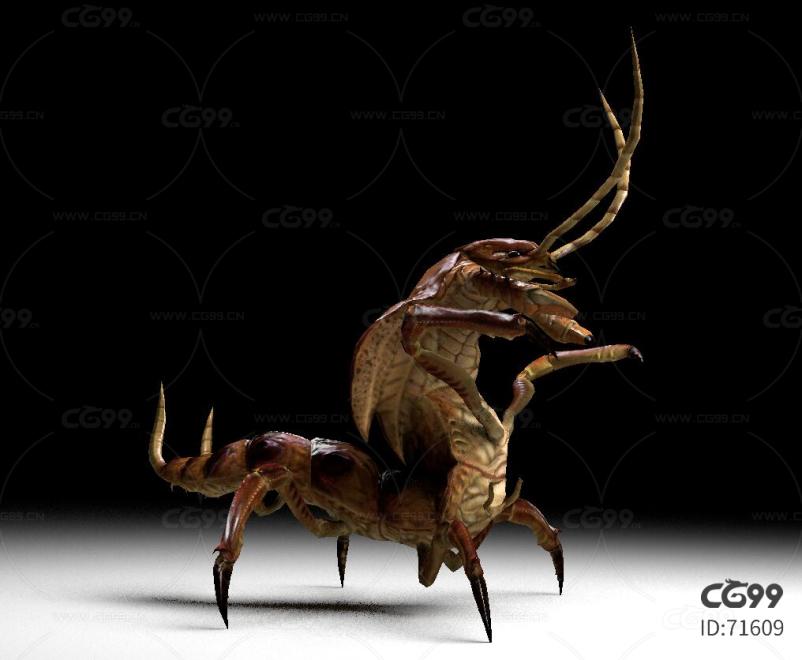 小型蜈蚣带一套动作