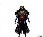 中国古风人物角色低模  铁面具赤身神秘人