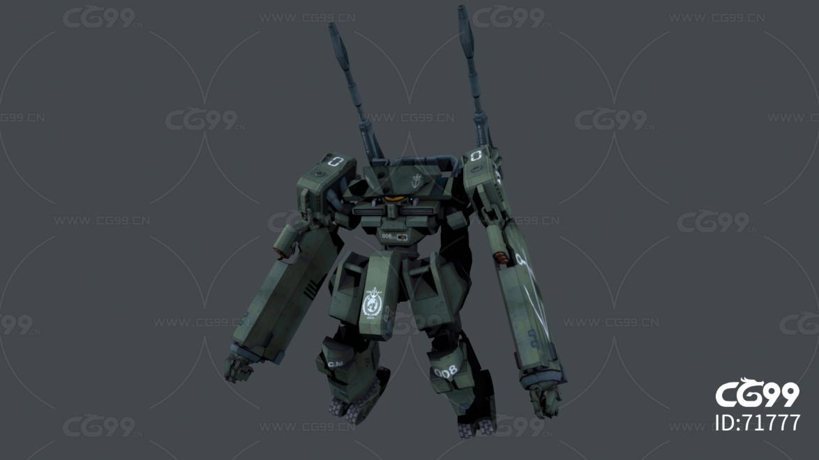 科幻机器人,战斗机器人,榴弹炮机器人