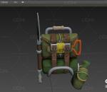 军用背包 军用铁锨 次时代模型 水壶 书包