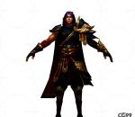 中国风武侠角色  手绘模型  游戏低模  将军