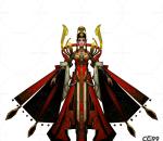 中国武侠玄幻手游角色模型   女皇帝