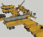 工程车家族su模型施工机械用车