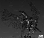 飞鸟 乌鸦带一套动作