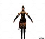 中国武侠玄幻手游角色模型  女角色