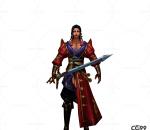 中国武侠玄幻手游角色模型   男剑客