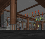 中式古建场景