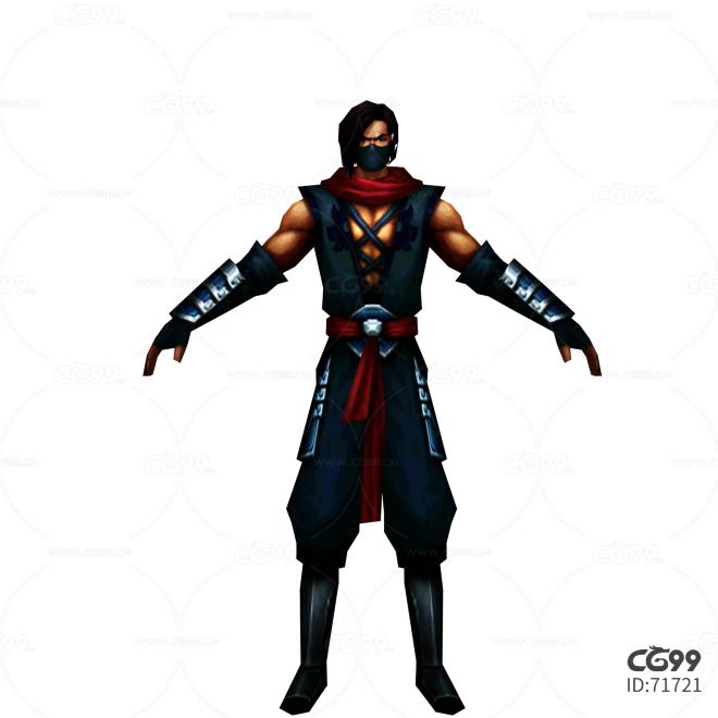 中国风武侠角色  手绘模型  游戏低模  土匪