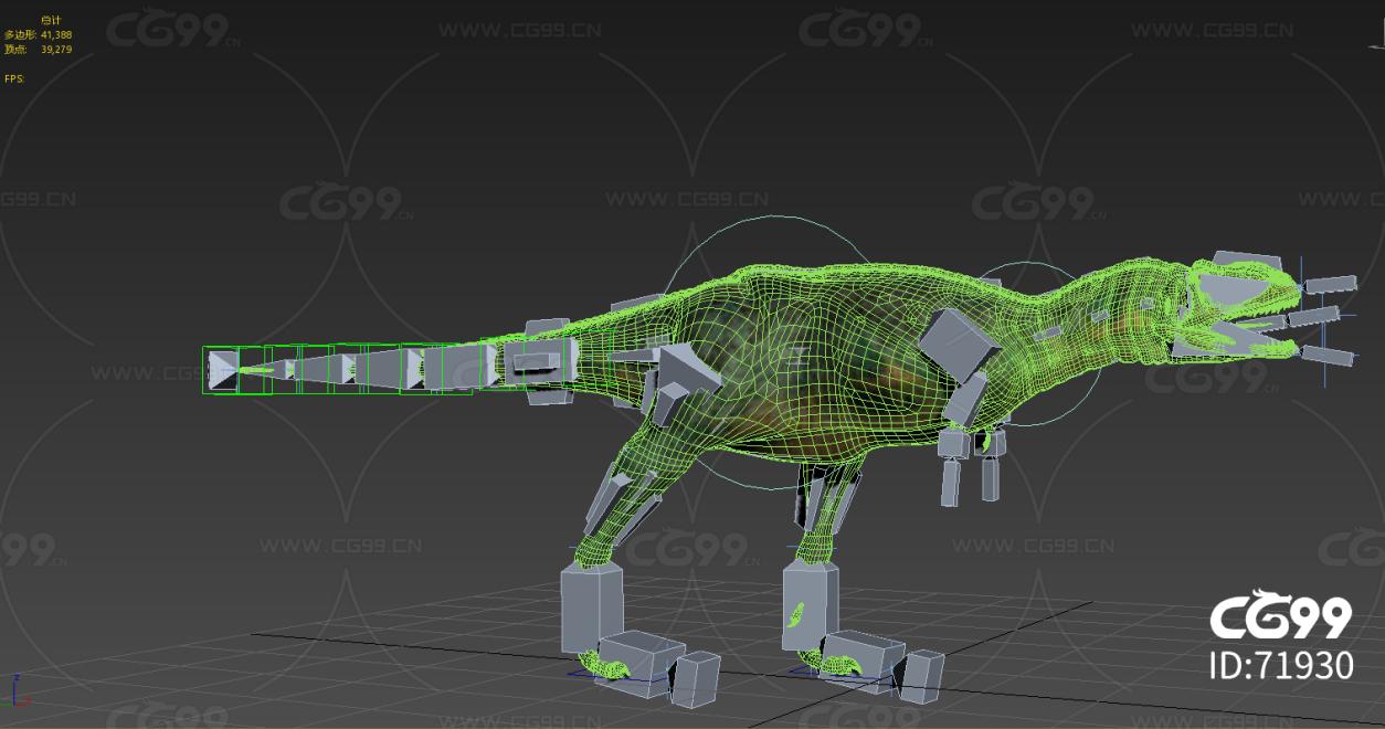 霸王龙超写实模型加材质