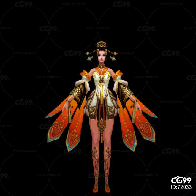 中国古风游戏美女角色 古装角色模型