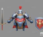胖甲勇士   Q版   卡通    游戏模型   手绘模型