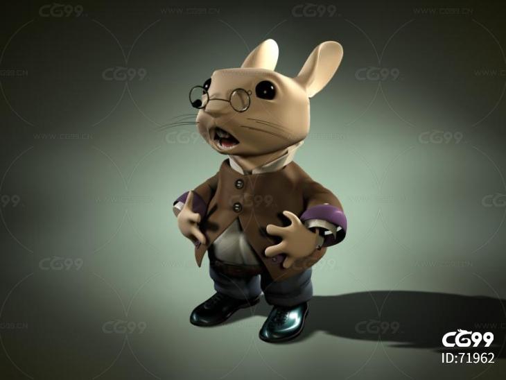 卡通兔子带绑定