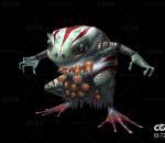 妖怪 青蛙 散魄蛙 蛤蟆怪 游戏怪兽带一套动作