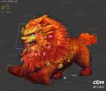 年兽 仙狮子带一套动作