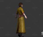 写实亚洲女人 少数名族 泰国服装 蒙古服装 女仆 佣人 长裙