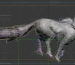 怪物-豺狼-雪地狼带一套动作