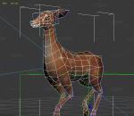 游戏风格小鹿带一套动作
