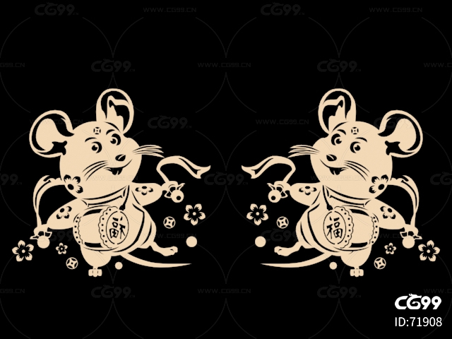 鼠 打鼓 logo 新年