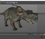 河神龙 阿奇洛龙 恐龙带骨骼无动画