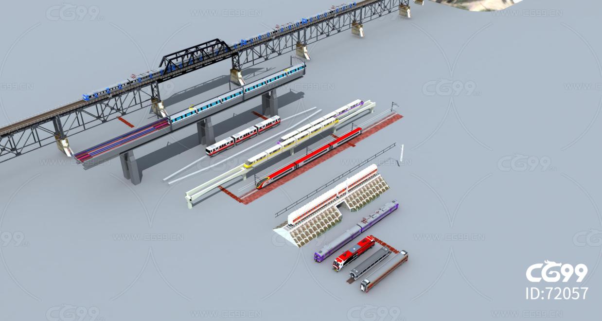高铁轻轨 高架桥 火车动车 铁轨铁路 火车道 高速列车