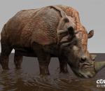 犀牛带顶撞动画fbx u3d