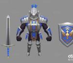 中世纪武士   Q版   卡通    游戏模型   手绘模型