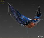 翠鸟带飞行动画