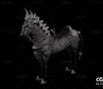 西方战马 斑马 圣骑士坐骑 魔幻战马带动作