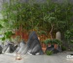 竹子,石头