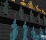 佛像观音财神关公雕塑组合