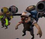 英雄行星 游戏角色 长舌怪 辅助 喷射背包 古怪人物