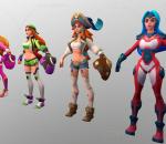 英雄行星 游戏角色 棒球手 星际射手 卡通女性