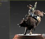 精模斗牛 雕刻 雕塑扫描