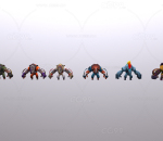英雄行星 游戏角色 犀牛怪兽 多款犀牛猛兽