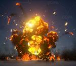 UE4 写实爆炸特效集合包  火焰 烟雾流体