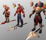 英雄行星 游戏角色 战士职业 圣骑士 卡通人物 3套皮肤
