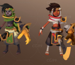 英雄行星 游戏角色 波斯王子 武器刀剑 外星战士 3套皮肤