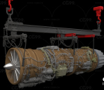 飞机战斗机的喷气式发动机