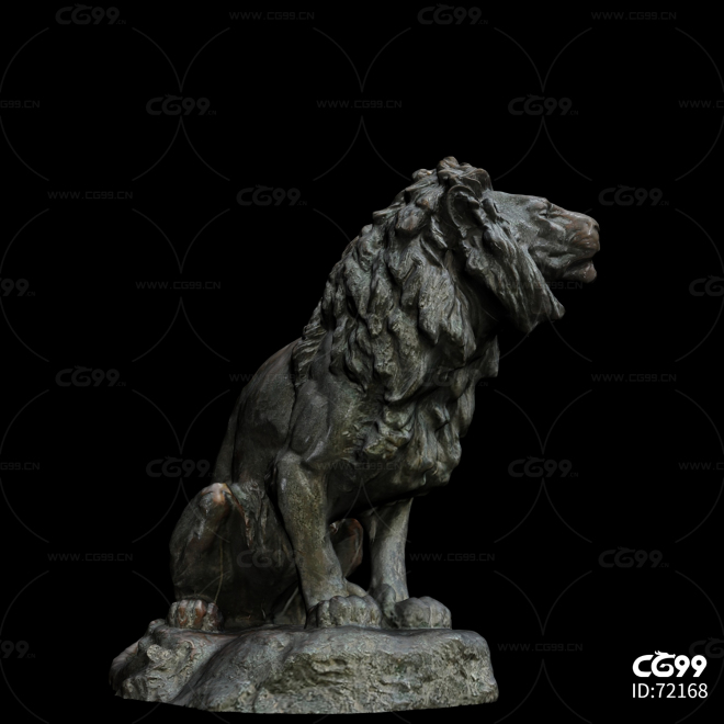 青铜雕像 青铜狮子 雕刻 雕塑