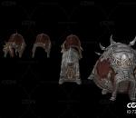 古代战争盾牌 武器架 栅栏