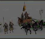 古代士兵有绑定动作