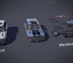 UE4 超高质量汽车组合警车 拉力车 越野车 可控制