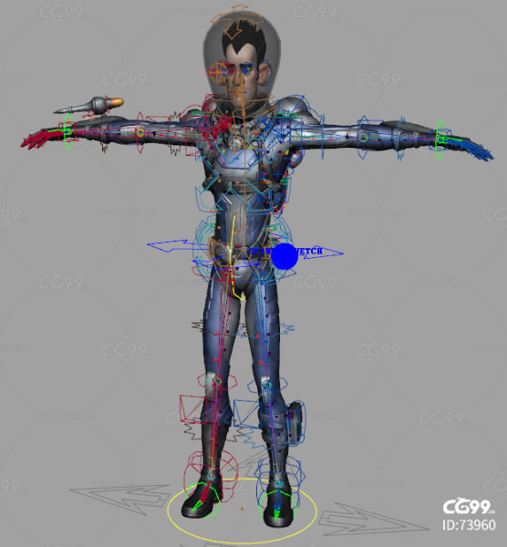 maya绑定超级复杂的未来飞行员