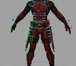 maya绑定忍者模型