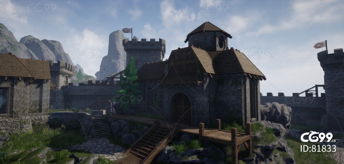 UE4 超级中世纪城堡 古堡 超大自然场景 真实场景 虚幻4