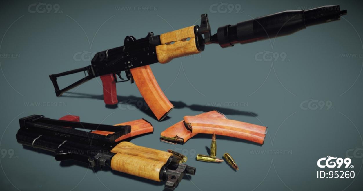 次时代枪械合集  ~AKS74U步枪~高精度~写实