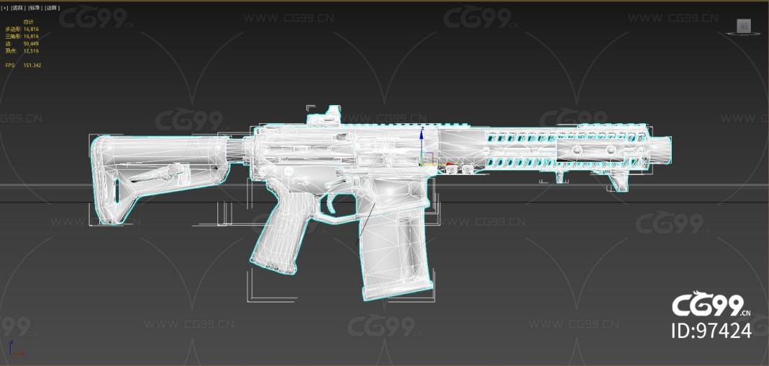 次时代 写实 枪械 slr自动步枪