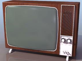 黑白电视机cg模型